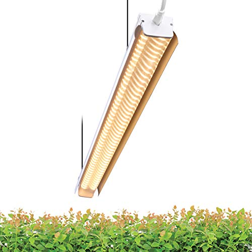 Byingo 4ft 64W Plant Grow Light – Full Spectrum LED Integrated Lamp Fixture Plug and Play – Perfect for Greenhouse, Indoor Plants Seeds Flowers Growing