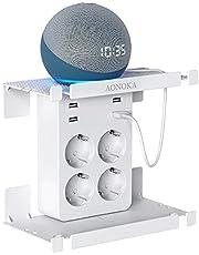 USB Wandcontactdoos, Meervoudige Stekkerdoos Met 4 USB Laders (2,4 A), Stekkerdoos Met USB Adapter, Schuko Meervoudige Stekker, Stekkeradapter Met Rek Voor Iphone, Ipad, Alexa, Echo, Wit
