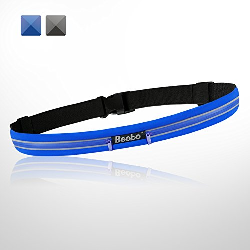 Becko Blue Lightweight & Durable Waterproof Bag / Running Belts / Runners Belt / Race Belt - Fitness Workout Belt for Both Men and Women during Cycling Hiking Running Sports All Outdoor Activities