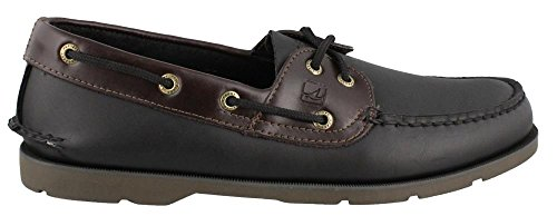 Sperry Top-Sider Mens Leeward 2-Eye Black-Amaretto Casual Shoes Size 10 D(M)