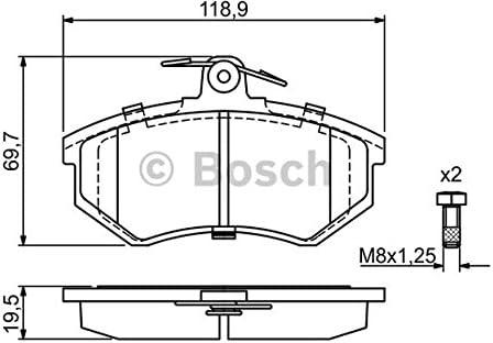 Bosch 0 986 466 700 4x Bremsbeläge Vorne Auto