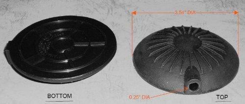 B350BA-10 Pneumatic Foot Pedal, Low Profile, Black, 1/4'' Hole Diameter, w/ 10 Feet Tubing by Presair (Image #1)