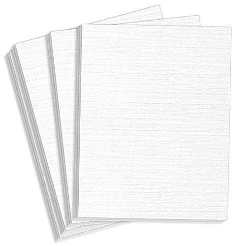 Royal Sundance Brilliant White Linen Cardstock - 8 1/2 x 11, 80lb Cover, 2000 Pack by LCI Paper (Image #1)
