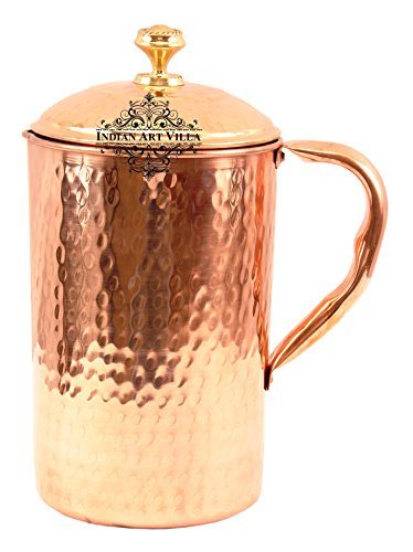 Handmade Pure Copper Hammered Pitcher/Jug 2100 ML Storage Water