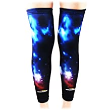 COOLOMG Pair Adult Child Compression Knee Sleeves Knee Protection Support Shin Guards for Sports