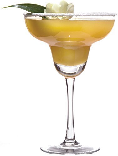Circleware 55499 Downtown Margarita Wine Glasses, Set of 4 Entertainment Drinking Glassware for Water, Juice, Beer, Liquor and Best Kitchen & Home Decor Bar Dining Beverage Gifts, 10 oz, Clear by Circleware (Image #2)