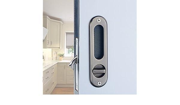 HSBAIS Inicio cocina baño puerta corredera cerradura hardware Zinc ...
