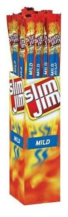 Slim Jim Giant Smoked Snacks, Mild, 0.97 oz Sticks, 24 Count