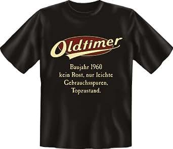 Diseño Año 1960Oldtimer No ROS––Camiseta Textiles negro Large