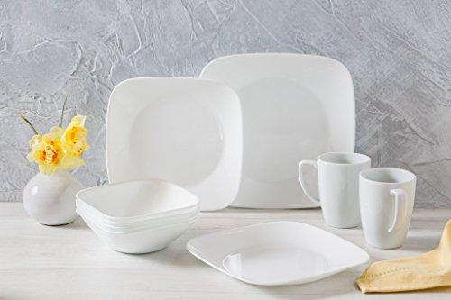 Corelle Square Pure White 16-Piece Dinnerware Set -