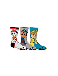PAW Patrol Boy's Dog Pals 3-Pack Crew Socks