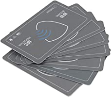 WallTrust RFID NFC Blocker Card para Tarjetas de crédito, Set de 2, Gris