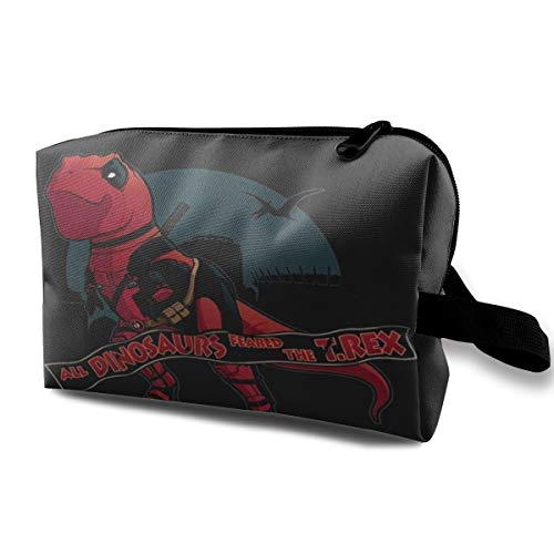 Deadpool T-rex Makeup Multifunction Storage Portable Clutch Pouch Toiletries Organizer Bag Travel Cosmetic Bags Portable Hanging Travel Toiletry Bag Waterproof]()