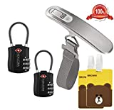 REALCERA Handheld Digital Luggage Scale And TSA Approved Luggage Lock Luggage tags Combo travel accessories kits For Travel