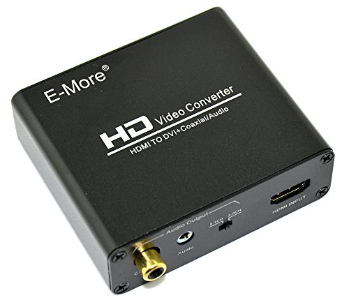 E-More® HDMI to DVI Converter With Digital S/PDIF Coax and Analog Stereo Audio Output Supporting HDCP HDMI 1.3 (E Digital compare prices)