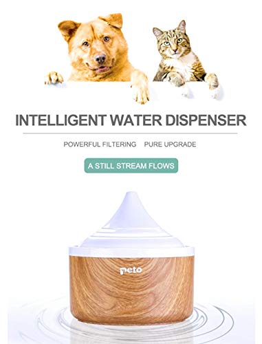 Peto Pet Drinking Fountain with Prevent Dry-Burning Design, Clean Purified Fresh Water Dispenser for Cats and Dogs, with…