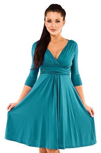 Viscose Jersey 3/4 Sleeve Dress - 2