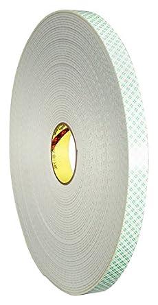 3M Cinta Adhesiva con Espuma de Polietileno Mount Soporte, 4008, 25,4 mm