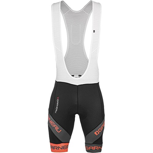 Louis Garneau Mondo Evo Bib Shorts - Men's Black/Orange, (Lazer Bib)
