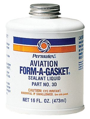 Permatex - Form-A-Gasket Sealants Aviation Form-A-Gasket #3 Sealant 16 Oz Bottle - Sold as 12 Each