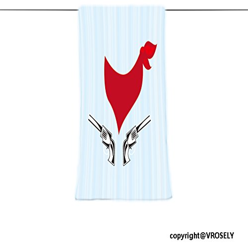 VROSELV Custom Towel Soft and Comfortable Beach Towel-wild west icon design Design Hand Towel Bath Towels For Home Outdoor Travel Use - West Beach Palm Wellington