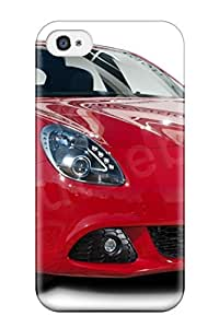 High Grade LatonyaSBlack Flexible Tpu Case For Iphone 4/4s - Alfa Romeo Giulietta 19