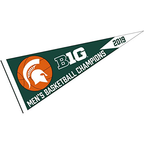 College Flags and Banners Co. Michigan State Spartans 2019 Big Ten Mens Basketball Champions Pennant