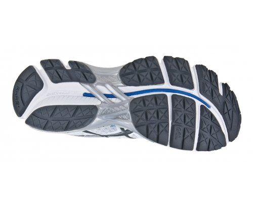 ASICS Ladies Gel-Kayano 19 Scarpa da Running Uomo Bianco/Grigio/Blu