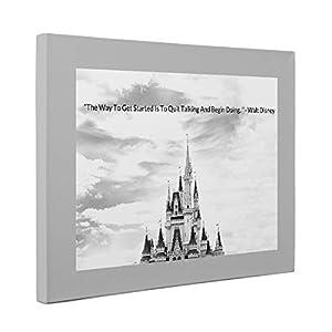 Walt Disney Motivational Quote Canvas Wall Art