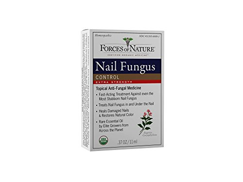 - Forces of Nature -Natural, Organic Nail Fungus Extra Strength Treatment (11ml) Non GMO, No Harmful Chemicals -Fight Damaged, Cracked, Brittle, Discolored Yellow and black Toenails, Fingernails