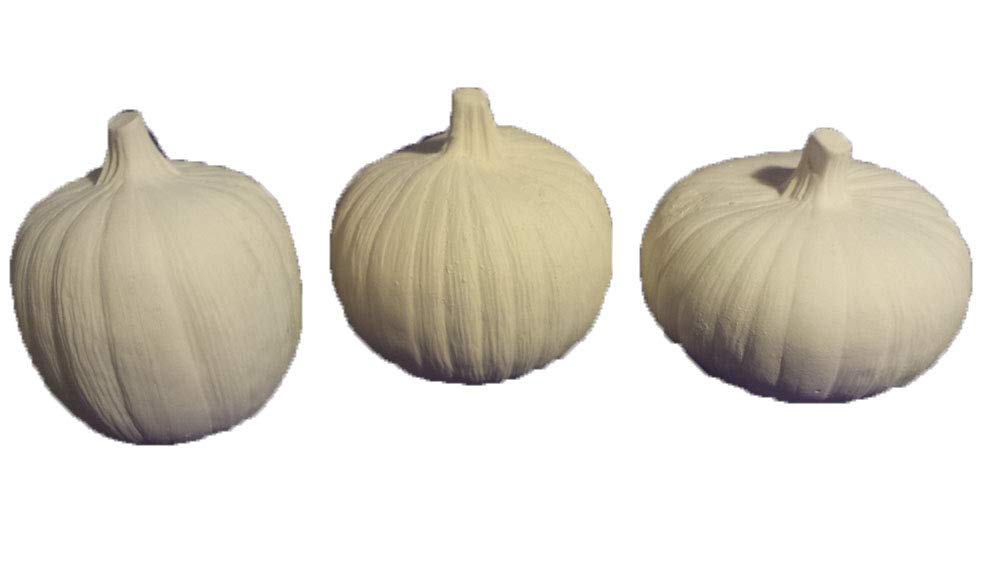 Plain Pumpkins 5 set of 3 ceramic bisque, ready to paint Dona