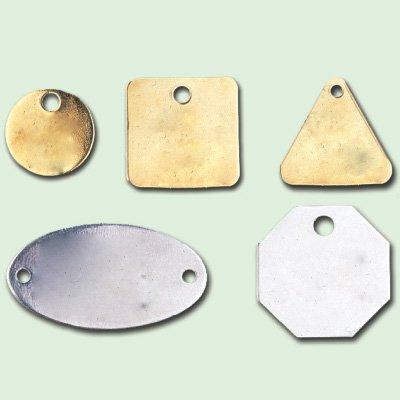 Aluminum Blank Metal Tags - 2'' Square