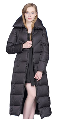 UAISI Women Thick Goose Down Coat Long Winter Parka Jacket XL (Goose Down Winter Coat)