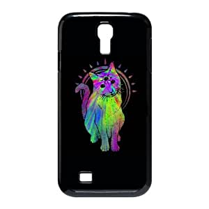 Samsung Galaxy S4 9500 Cell Phone Case Black Psychic psychedelic trippy cat S1D1OM