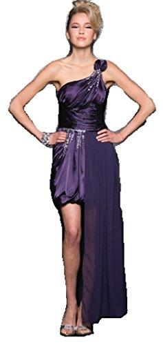 Les Femmes Fabuleuses Sexy Une Robe Occasion Spéciale Retour À La Maison De Bal Épaule Prune