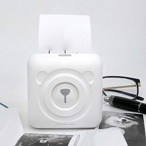 Softmusic Office Electronics Portable Cute Bear Wireless Bluetooth Thermal Paper Photo Pocket Label Printer White by Softmusic (Image #3)