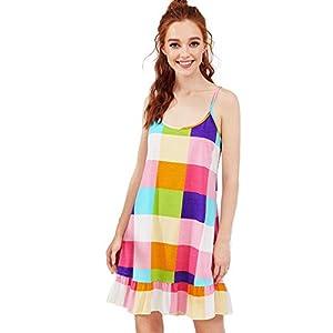 Verdusa Women's Sleeveless Nightgown Lounge Dress Full Slip Nightwear Sleepshirt