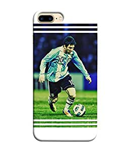 ColorKing Football messi Argentina 02 White shell case cover for Apple iphone 8 Plus