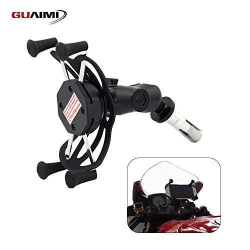 GUAIMI Motorcycle Phone Mount Holder 16-19mm Fork Stem Mount For Suzuki GSX-R600 750 06-17 GSX-R1000 03-04 09-16 Yamaha YZF-R1 02-03 BMW S1000RR 10-17 Honda Kawasaki
