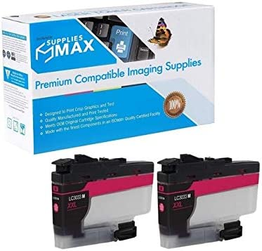 SuppliesMAX Compatible Replacement for Brother DCP-J1100//MFC-J805//J815//J995//J1300DW Magenta Super High Yield Inkjet 2//PK-1500 Page Yield LC-3233XXLM/_2PK