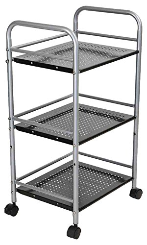 Mind Reader 3 Tier Metal Kitchen Trolley, Utility Cart, (Utility Trolley)