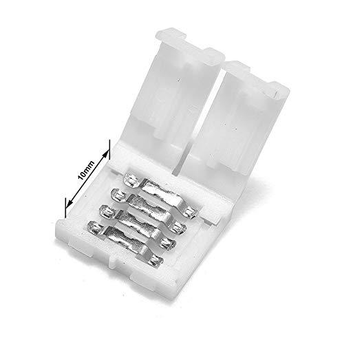 Gimax 2000pcs 8mm 10mm 4 Pin RGB LED Strip Connector 12mm 5 Pin RGBW Connector For SMD LED Strip Lights - (Color: 12mm 5pin, Connector Type: Panel Connector, Pins: 4P) by GIMAX (Image #2)