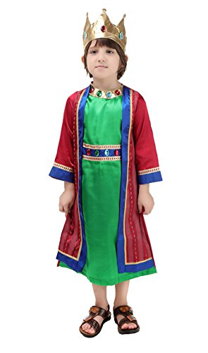 King Robe And Crown Set Kids Costumes (ROMASA Cosplay Performance costume boy role play performance --the King)