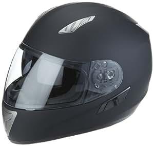 Protectwear Casco de moto mate negro con visera solar integrada H520-ES Tamaño M