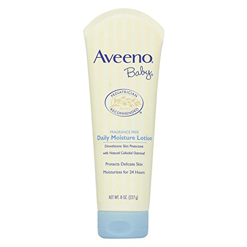 Aveeno Baby Daily Moisture Lotion - Aveeno Baby Daily Moisture Lotion with Natural Colloidal Oatmeal & Dimethicone, Fragrance-Free, 8 oz