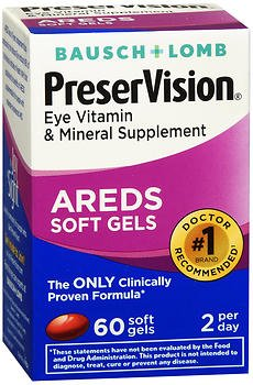 PreserVision AREDS Eye Vitamin & Mineral Supplement - 60 Softgels, Pack of 6 by PreserVision