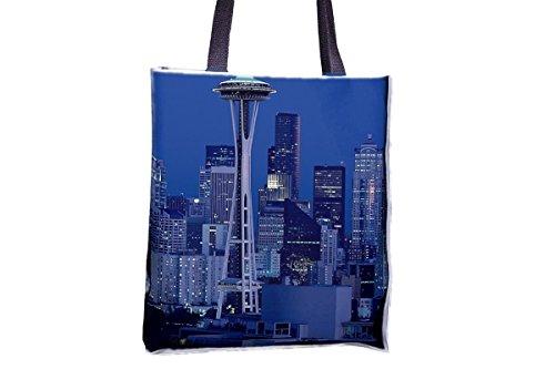 Aguja espacial, Seattle, Washington Allover impresos, populares totes, populares bolsas de bolsos para mujer, bolsa de bolso profesional, grandes bolsas de bolsos profesionales, mejores bolsas de bols