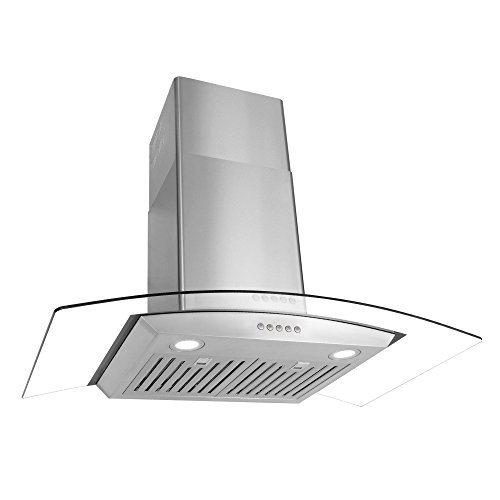 Mount Style Wall Best Pro - Cosmo 36 in. Wall Mount Pro-Style Range Hood | 760 CFM, 3 Speed Fan, Reusable Permanent Filters, LED Lights | Stainless Steel COS-668WRC90