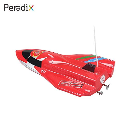 RC Ship Speedboat RC Boat Kids Fish Finder Premium Brushless Durable Tourist 4 Channel Motor Professional Driver red