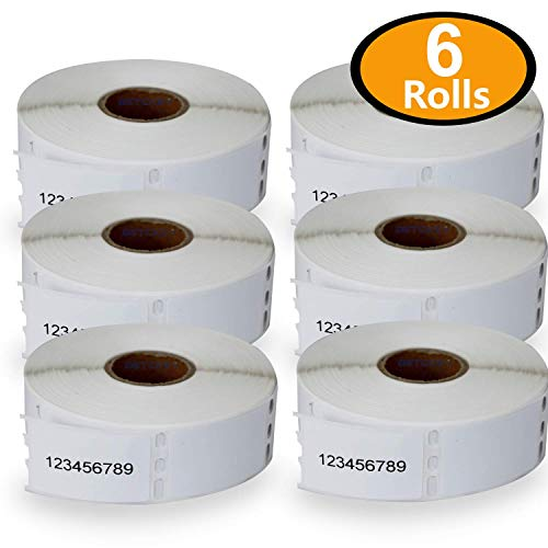 6 Rolls DYMO 30347 Compatible 1'' x 1-1/2''(25mm x 38mm) Book Spine Labels,Compatible With Dymo 450, 450 Turbo, 4XL And Many More by BETCKEY